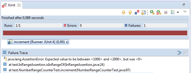 Unit Test Assertion: Custom Assertion Failure