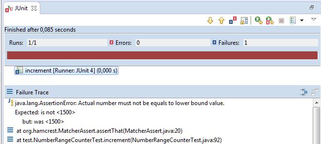 Unit Test Assertion: Hamcrest-Failure