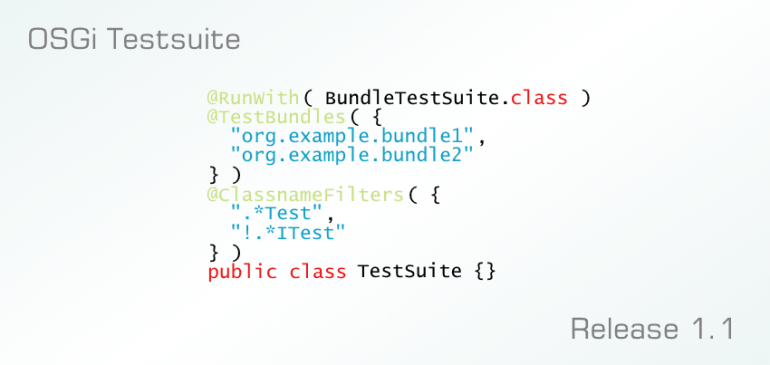 OSGi Testsuite: Introducing Classname Filters