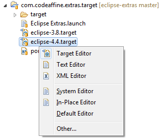 Extras for Eclipse: Open With... Key Binding