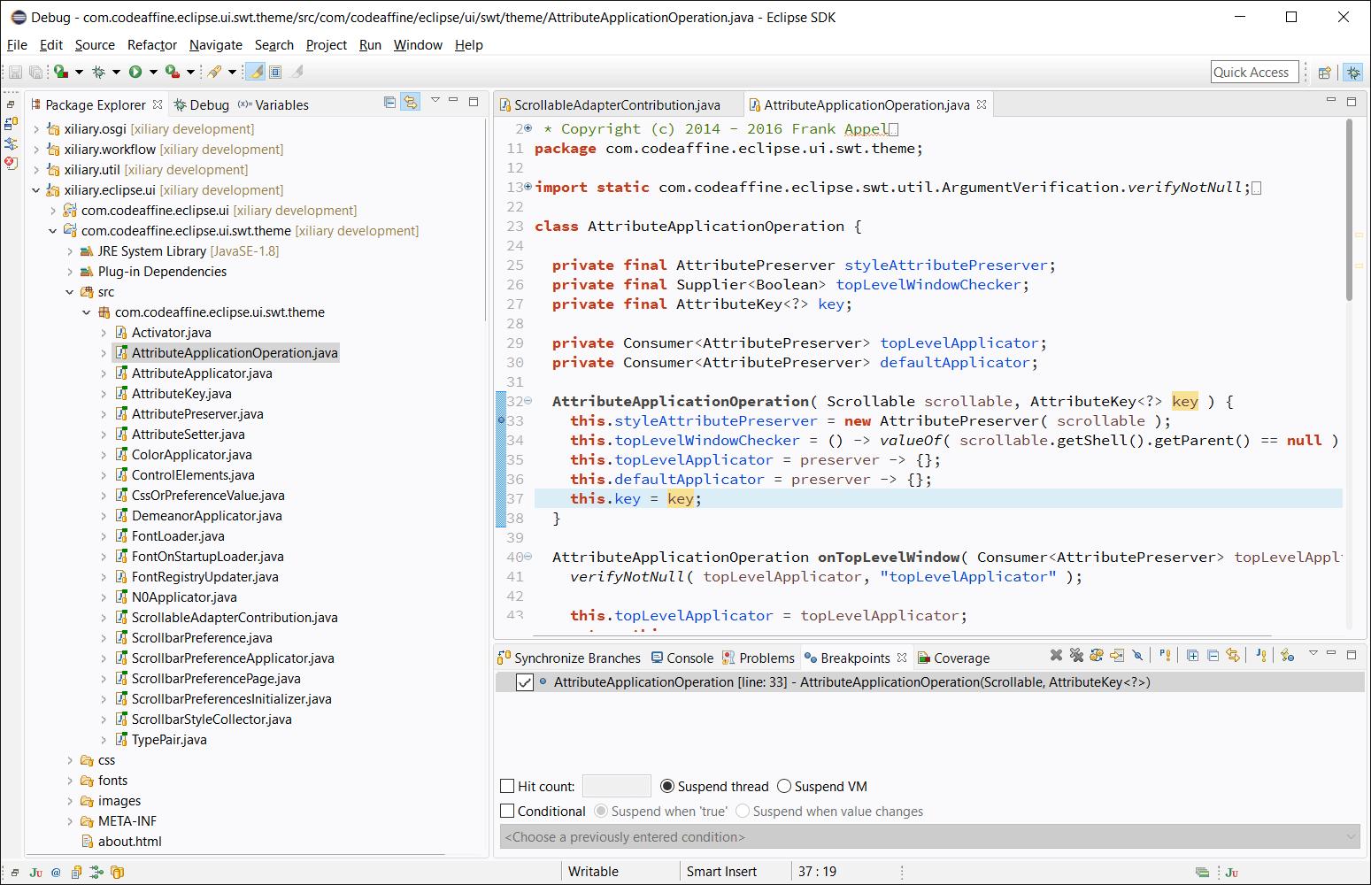 Eclipse Theme: Clean Sheet Screenshot