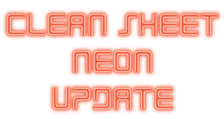 Eclipse Neon: Clean Sheet Update